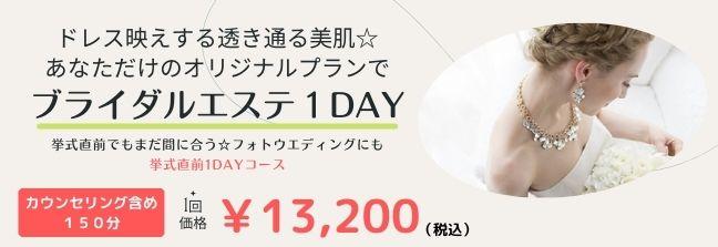 1DAY 挙式直前集中ケア(75分)